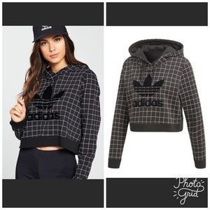 Super cute ADIDAS cropped hooded sweatshirt